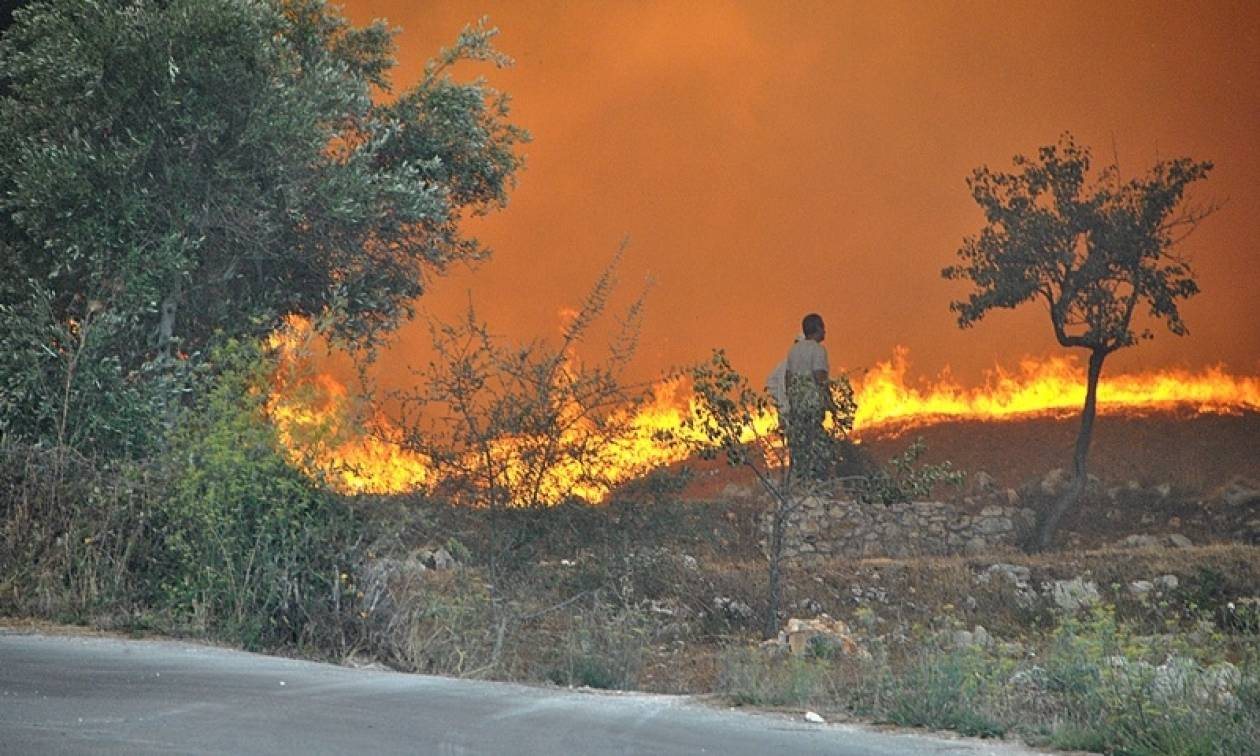 Φωτιά μαίνεται στον Άραξο - Μάχη με τις φλόγες και στην Εύβοια