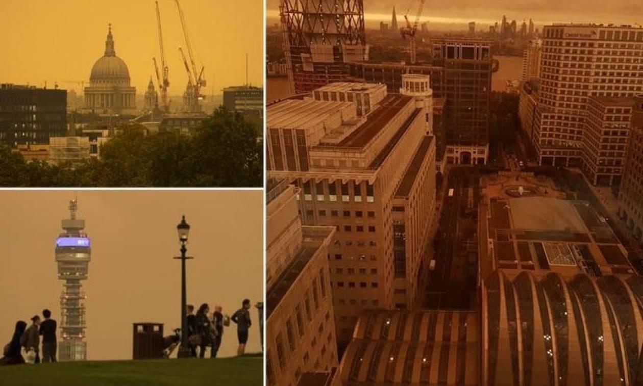Ο ουρανός «βάφτηκε» κίτρινος στη Βρετανία - Δείτε γιατί! (pics)