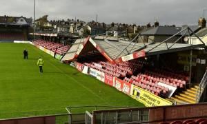 Ιρλανδία: Απίστευτο βίντεο! Η «Οφηλία» κατέστρεψε το γήπεδο της Κορκ Σίτι! (pic+vids)