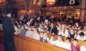 Τα παιδιά στο Σικάγο μαθαίνουν για τον Άγιο Σπυρίδωνα
