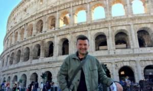 Δημήτρης Μάρκος: Απόδραση στη Ρώμη για τον... Μανωλά! (pics)