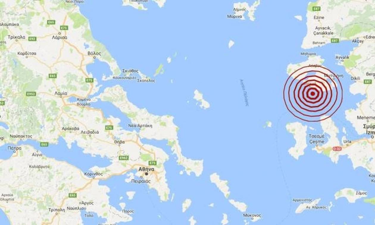 Σεισμός ΤΩΡΑ νότια της Μυτιλήνης (pics)