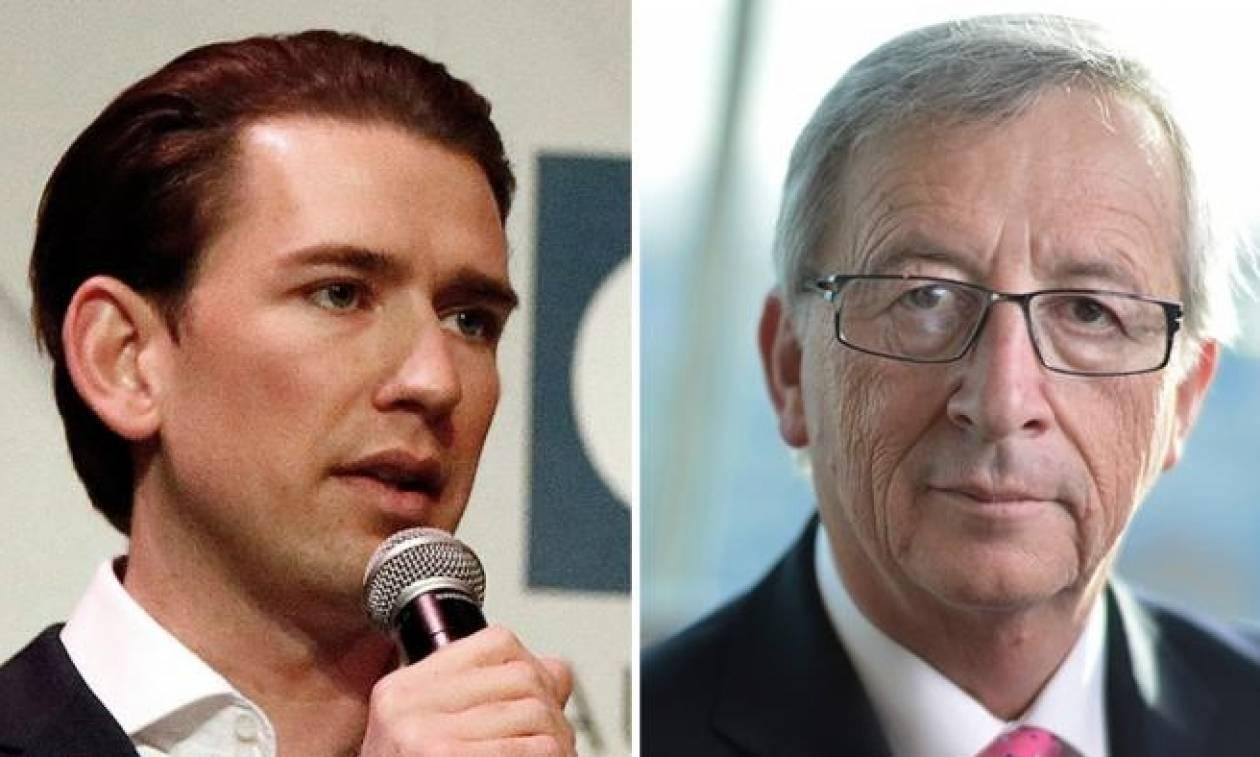 Αυστηρό μήνυμα Κουρτς σε Γιούνκερ: Εμείς θα αποφασίσουμε τι κυβέρνηση θα σχηματιστεί στην Αυστρία