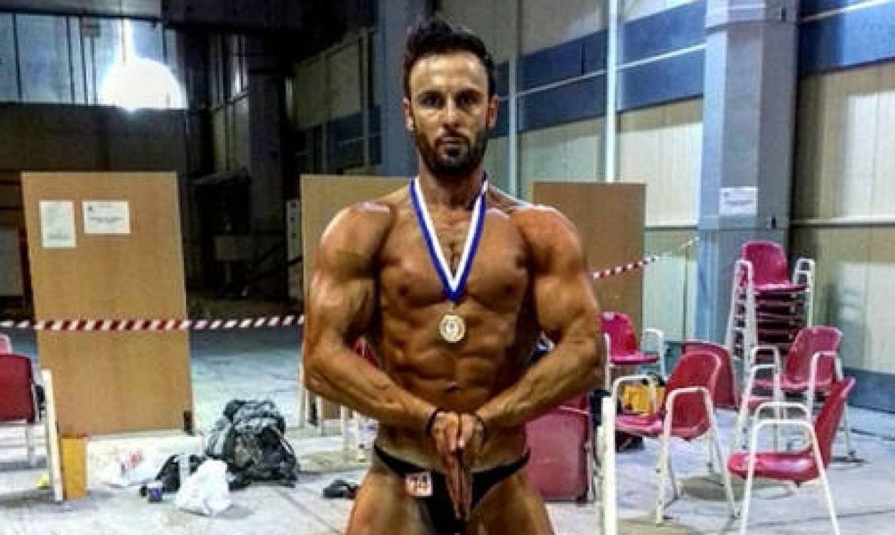Ο Νίκος Σαρουσαββίδης από την Κοζάνη, τρίτος στους Μεσογειακούς Bodybuilding