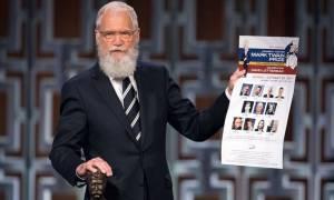 Στον Ντέιβιντ Λέτερμαν το βραβείο Μαρκ Τουέιν για το Αμερικανικό χιούμορ