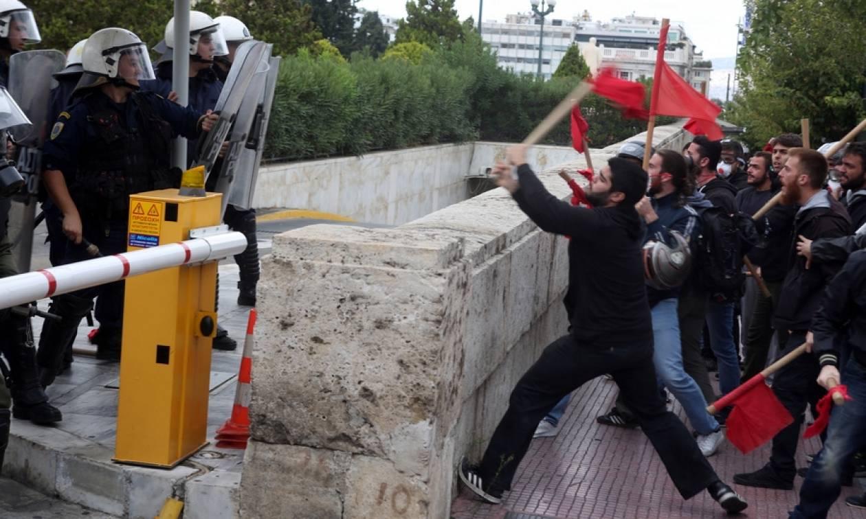 Επεισόδια σε φοιτητική πορεία στο κέντρο της Αθήνας (pics)