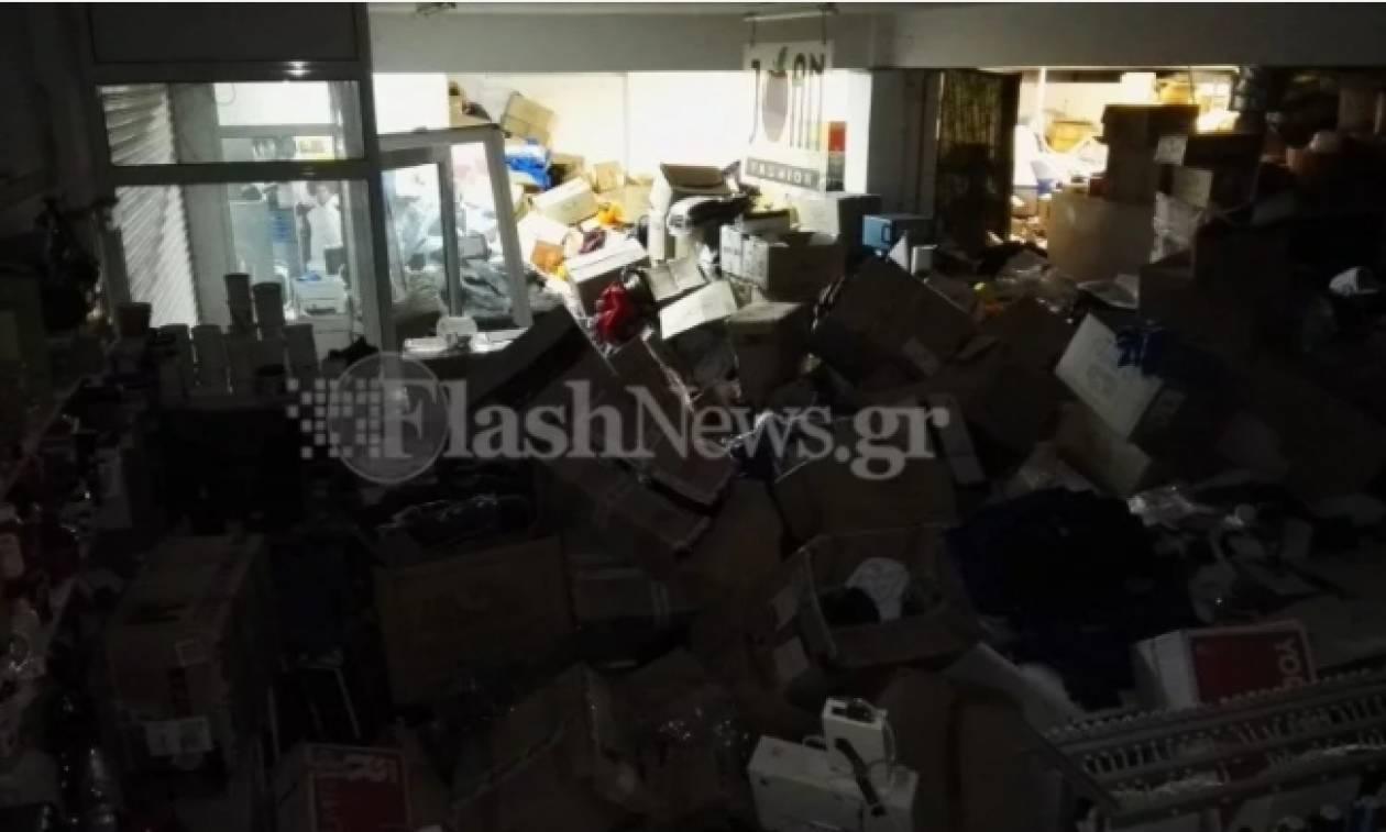 Καιρός - Χανιά: Μεγάλη καταστροφή σε βιοτεχνία ρούχων – Σε απόγνωση η ιδιοκτήτρια (pics)