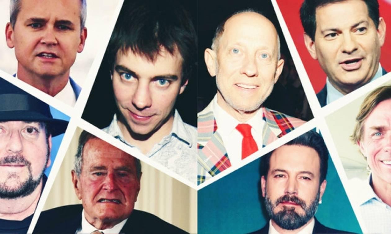 Η λίστα της ντροπής: Αυτοί είναι οι διάσημοι κατηγορούμενοι για σεξουαλική κακοποίηση