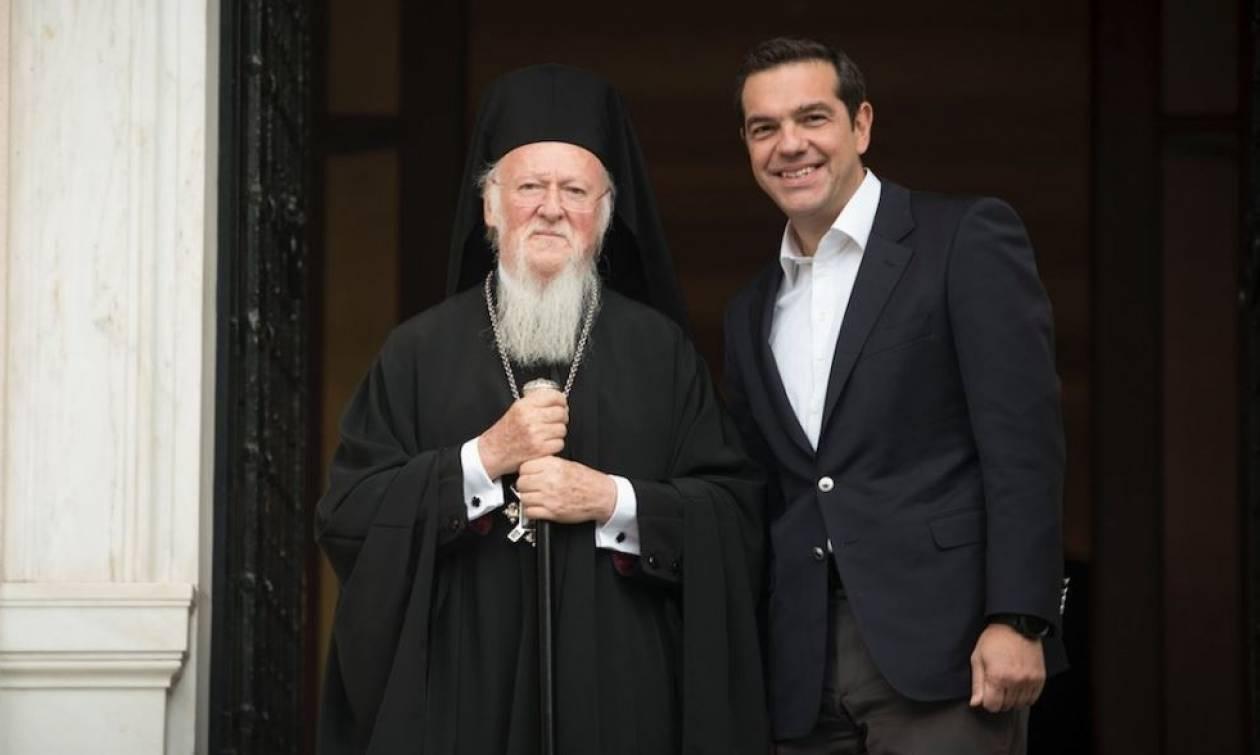 Συνάντηση Τσίπρα με τον Οικουμενικό Πατριάρχη Βαρθολομαίο: Τι ανάρτησε ο πρωθυπουργός στο Twitter