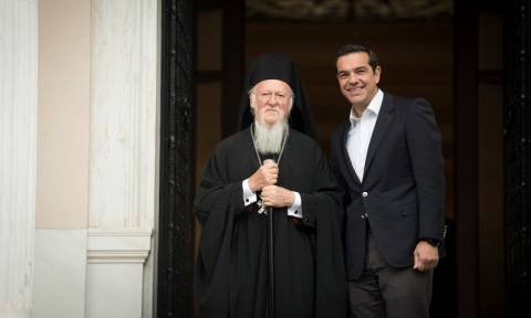 Tsipras meets with Ecumenical Patriarch in Athens