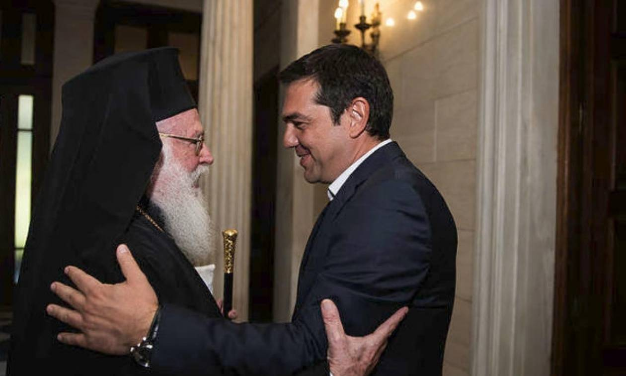 Συνάντηση Τσίπρα με τον Αρχιεπίσκοπο Αναστάσιο