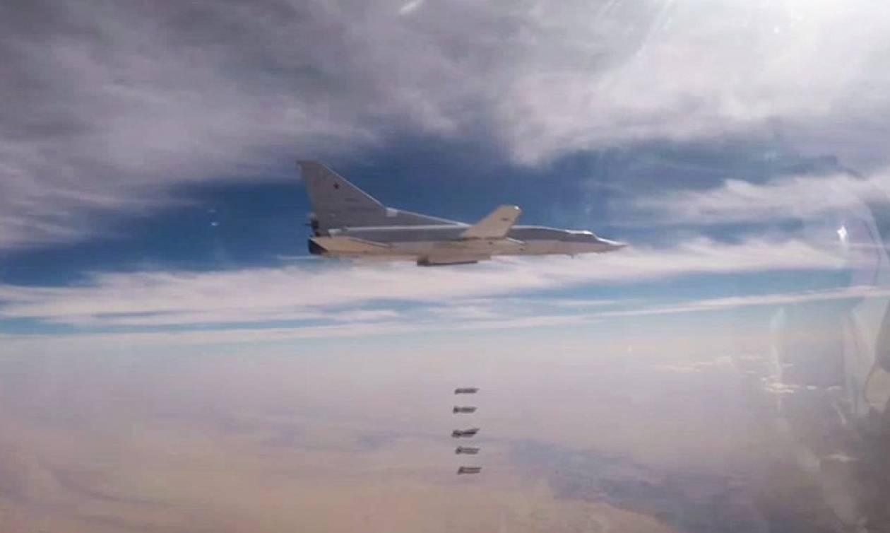 Ρωσικά βομβαρδιστικά «σφυροκοπούν» θέσεις του ISIS στη Συρία