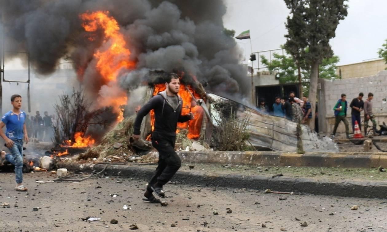 Συρία: Έκρηξη παγιδευμένου αυτοκινήτου του Ισλαμικού Κράτους με δεκάδες νεκρούς