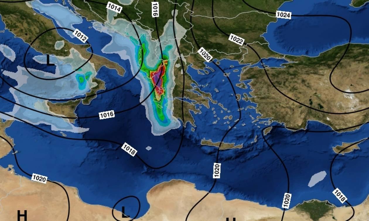 Καιρός: Πάνω από την Ελλάδα το ισχυρό βαρομετρικό – Πού θα βρέξει τις επόμενες ώρες