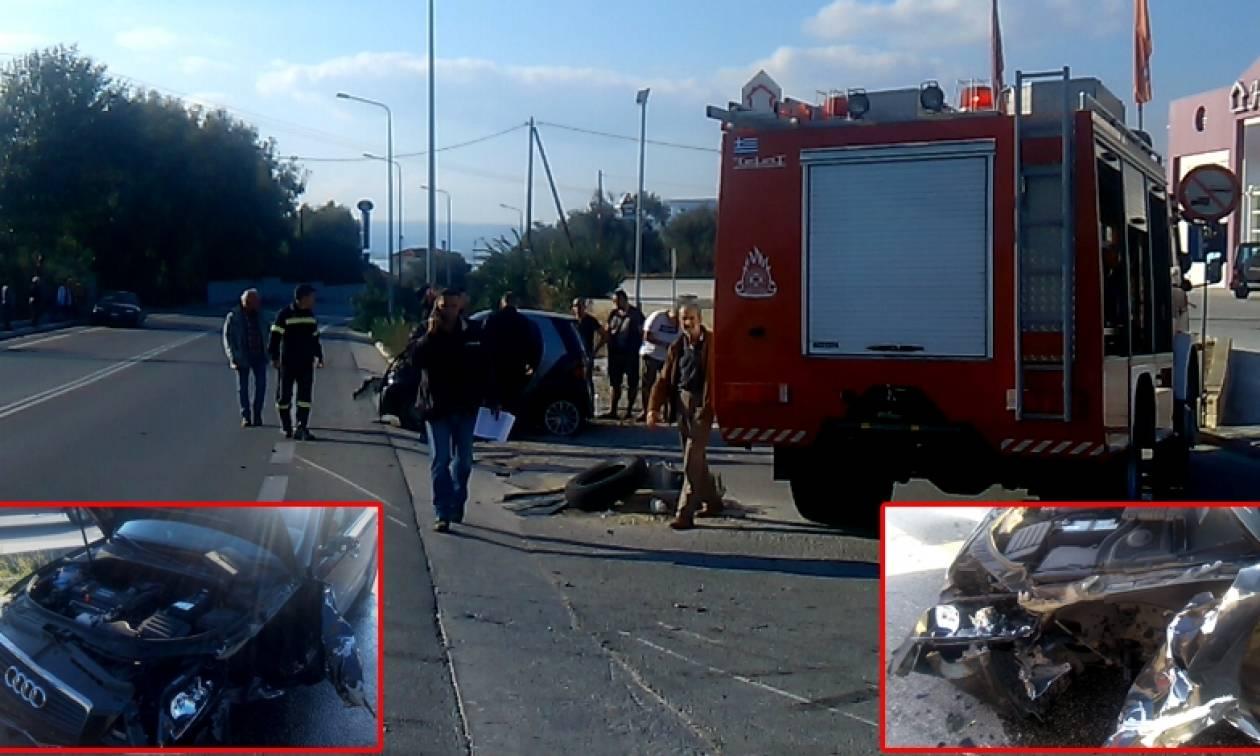 Φοβερό τροχαίο με τρία αυτοκίνητα – Οι αερόσακοι έσωσαν τέσσερις ανθρώπους