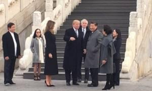 Ο Ντόναλντ Τραμπ και ο Σι Τζινπίνγκ πίνουν τσάι στην Απαγορευμένη Πόλη (photos)