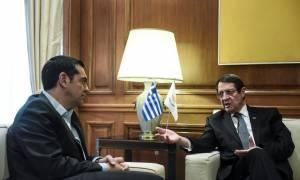 Τσίπρας σε Αναστασιάδη: «Τώρα βγαίνουμε κι εμείς από το μνημόνιο»