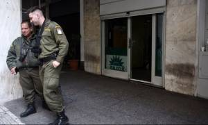 Διαμαρτυρία των ΜΑΤ με αφορμή την επίθεση στα γραφεία του ΠΑΣΟΚ