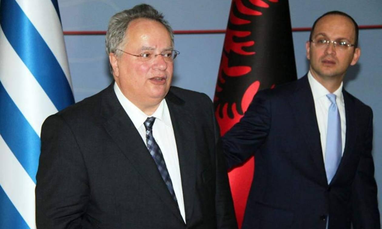Συνάντηση Κοτζιά με τον Αλβανό ομόλογό του – Τι συζήτησαν