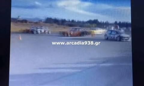 Τρομερό ατύχημα στην Τρίπολη! Αυτοκίνητο σε αγώνα δρόμου έπεσε στο κοινό! 4 τραυματίες (vid)