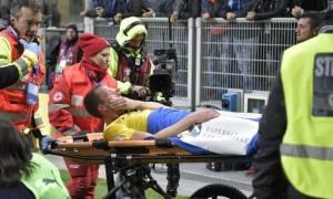 Σοκαριστική η πρώτη διάγνωση: Ρήξη χιαστών ο Γιόχανσον στο Ιταλία-Σουηδία! (pics)