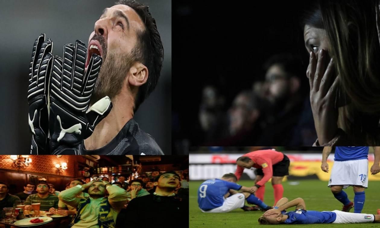 Το δράμα της Ιταλίας μετά τον αποκλεισμό από το Μουντιάλ σε 14 συγκλονιστικά κλικ! (pics)