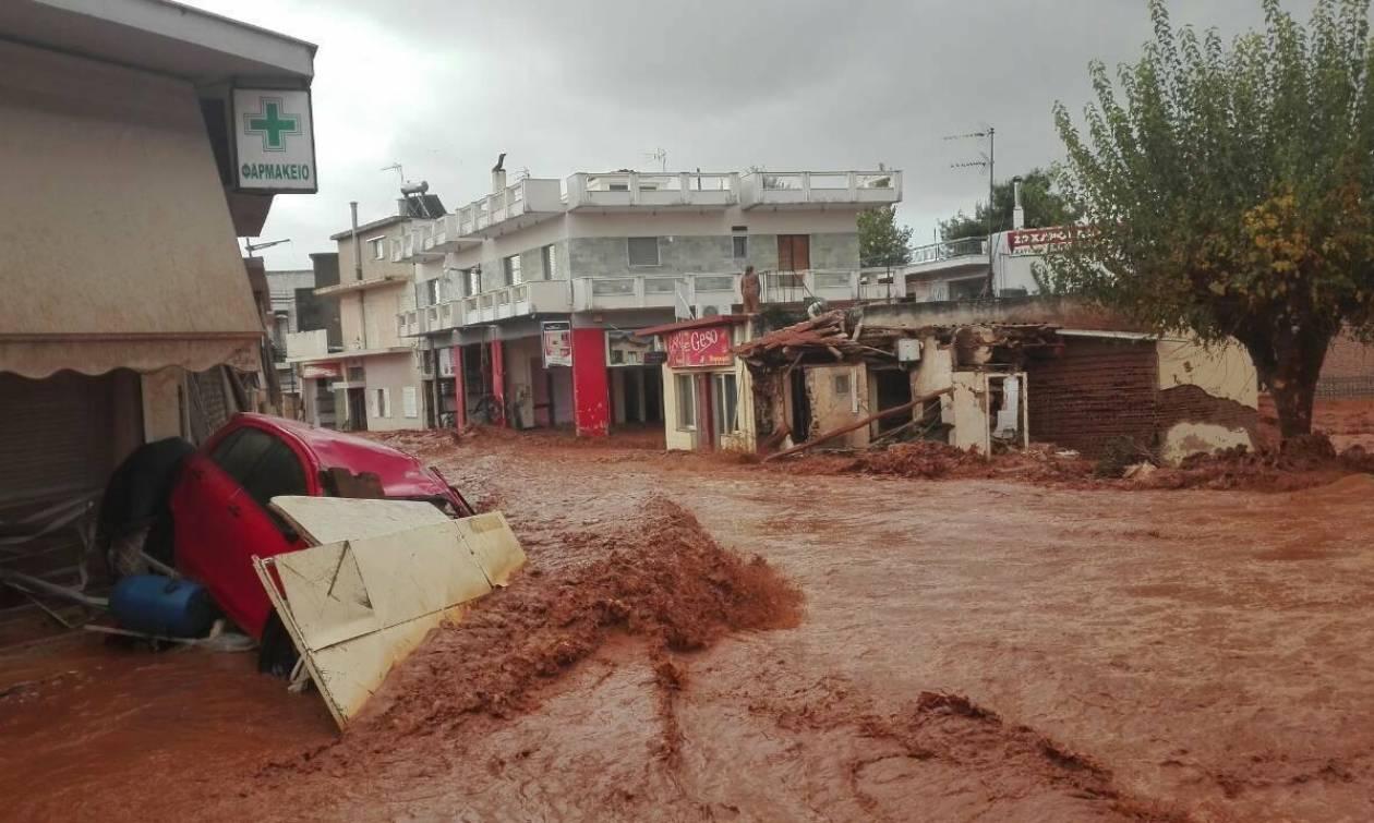 Φονική κακοκαιρία στη Μάνδρα: Συγκλονιστικές εικόνες καταστροφής από drone