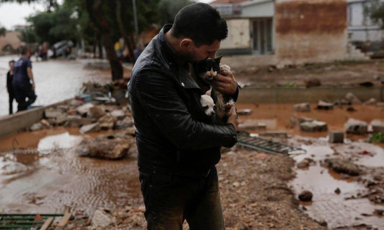 Πλημμύρες Μάνδρα 2017 μ.Χ.: Φίλε, σ'ευχαριστώ, σ'ευχαριστώ που υπάρχεις
