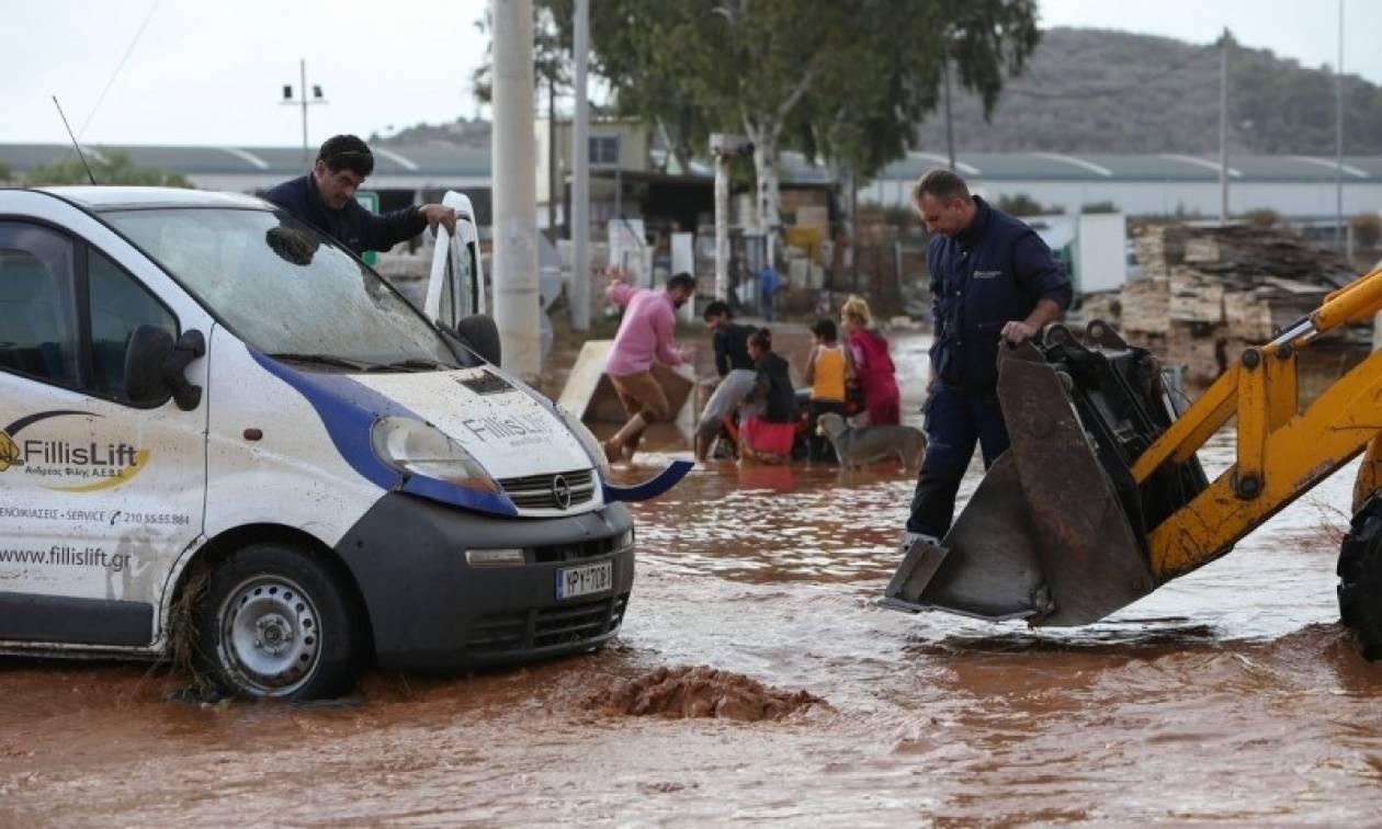 Πλημμύρες στη δυτική Αττική: Ξεκινά την Πέμπτη (16/11) η καταγραφή των ζημιών