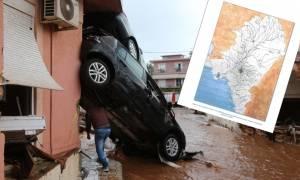 Πλημμύρες - Αποκάλυψη: Αυτά είναι τα μπαζωμένα ρέματα της Αττικής που θα μας πνίξουν (χάρτες)