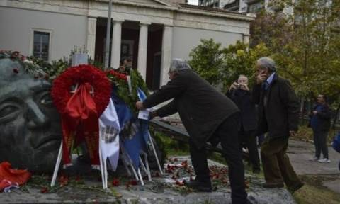 People slowly gathering at Athens Polytechnic to honour 1973 student uprising