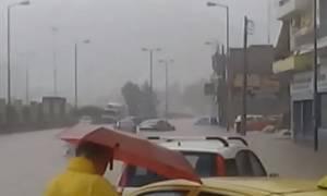 Καιρός ΤΩΡΑ – Κερατσίνι: Συγκλονιστικό βίντεο - Χείμαρρος παρασύρει οχήματα στη Λεωφόρο Δημοκρατίας