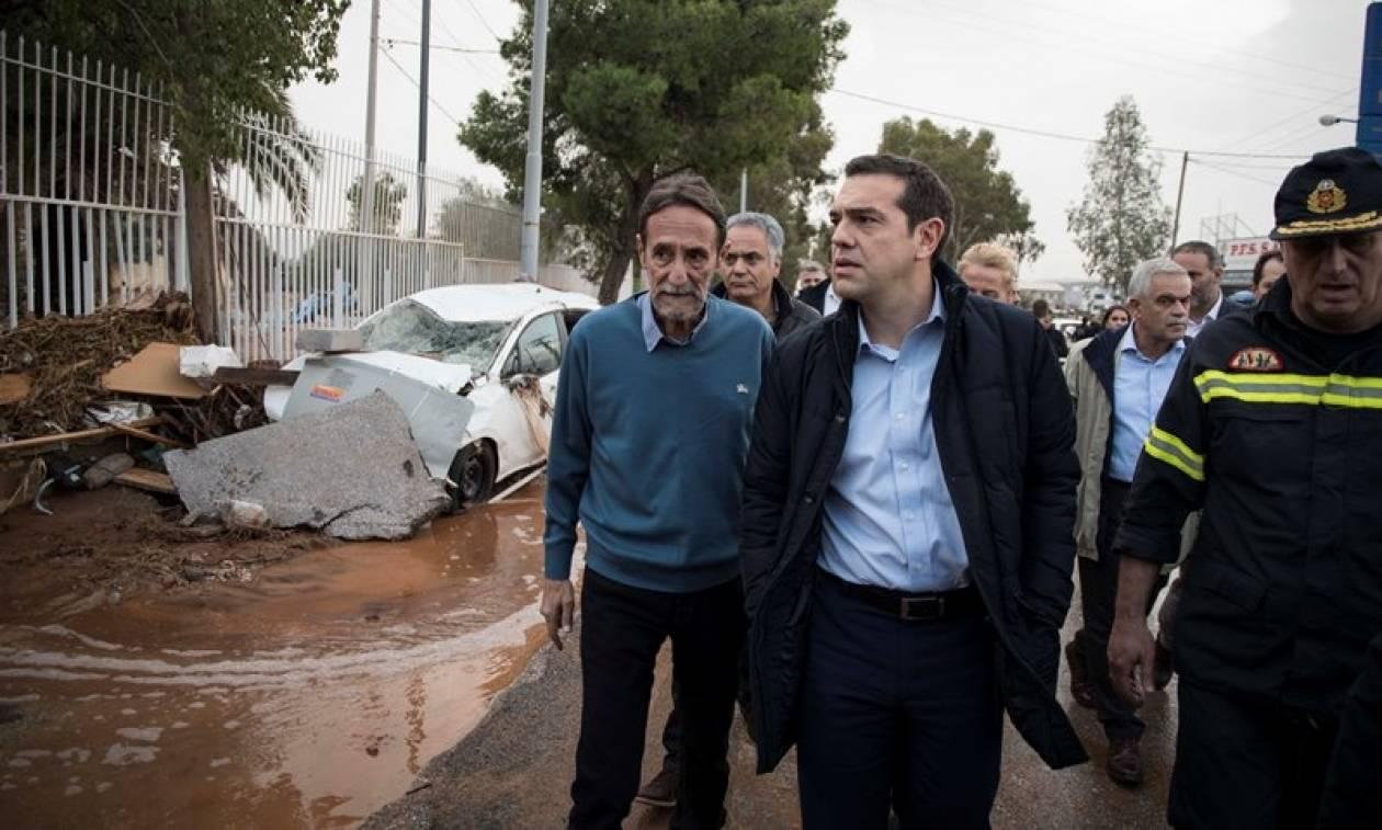 Πλημμύρες Αττική - Τσίπρας: Θα ζητήσουμε βοήθεια από την Ευρώπη