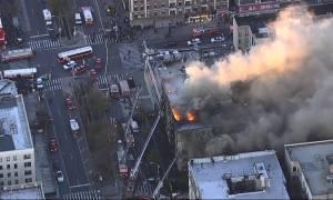Συναγερμός στη Νέα Υόρκη: Στις φλόγες εξαώροφο κτίριο (pics+vids)