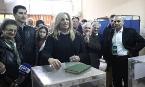 Εκλογές Κεντροαριστερά: Ψήφισε η Φώφη Γεννηματά
