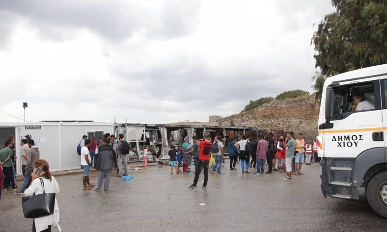 Χίος: Επεισόδια μεταξύ προσφύγων, μεταναστών και κατοίκων του χωριού Χαλκειός