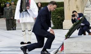 Στην Αθήνα ο Πολωνός Πρόεδρος της Δημοκρατίας - Συνάντηση αυτή την ώρα με τον Προκόπη Παυλόπουλο