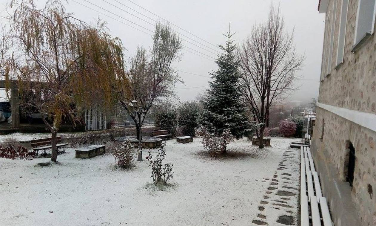 Καιρός LIVE: Το… έστρωσε! Δείτε πού χιονίζει τώρα στην Ελλάδα (pics)