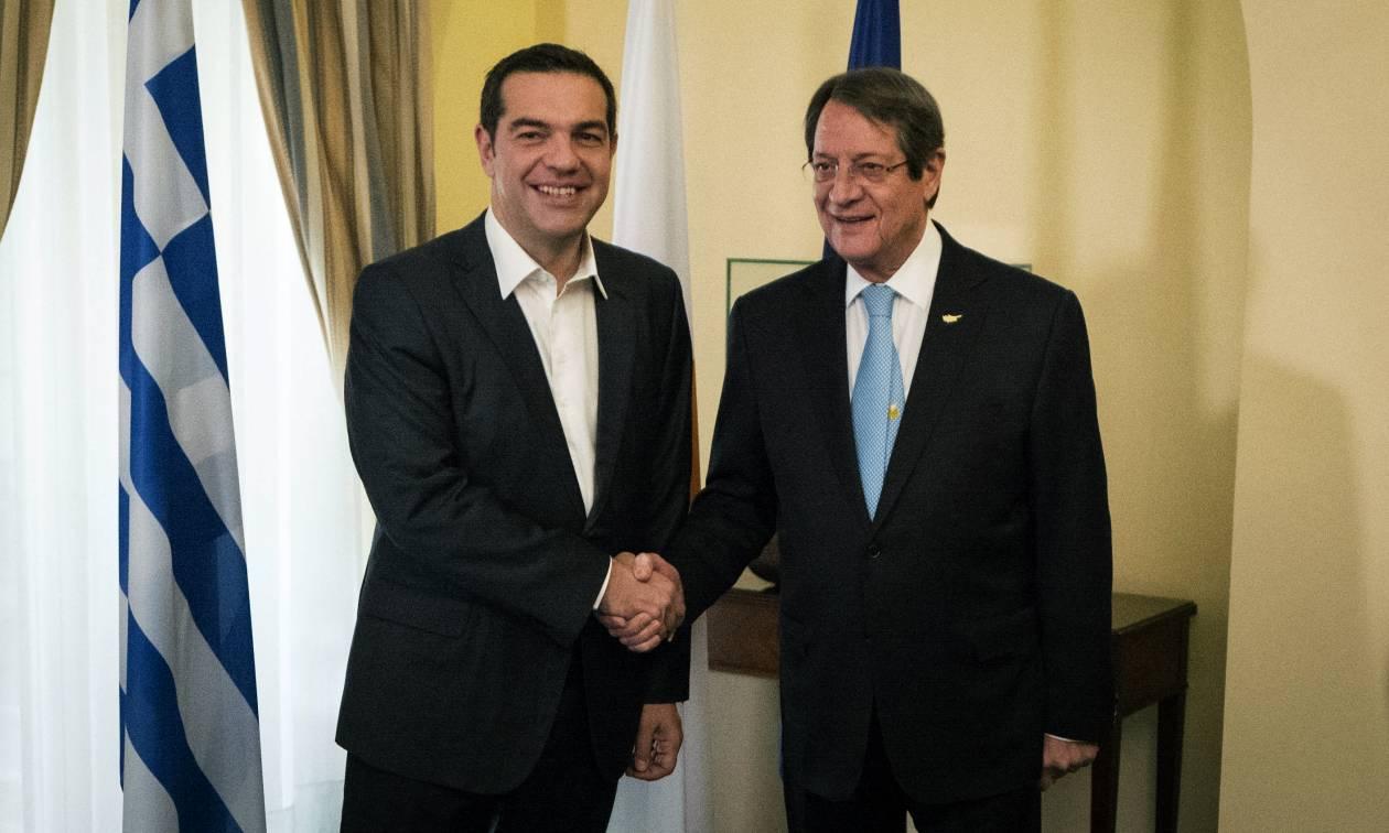 Τριμερής συνάντηση - Τσίπρας: Ελλάδα, Κύπρος και Αίγυπτος είναι πυλώνας σταθερότητας