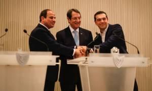 Συνάντηση Τσίπρα-Αναστασιάδη-Σίσι: Βρισκόμαστε στο σταυροδρόμι σοβαρών γεωπολιτικών προκλήσεων
