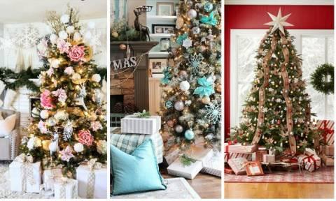 Ορίστε 68 ιδέες για να στολίσετε το Χριστουγεννιάτικο δέντρο