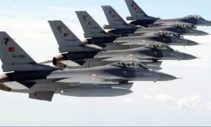 Μπαράζ παραβιάσεων από οπλισμένα τουρκικά μαχητικά και εικονική αερομαχία