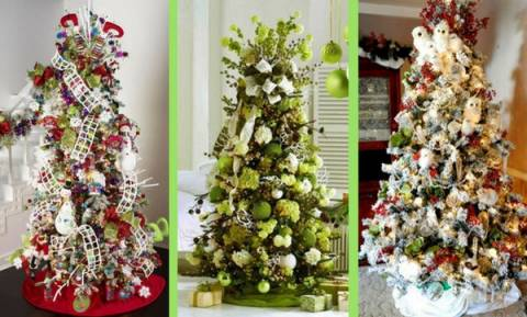 35 ιδέες για να στολίσετε φέτος το χριστουγεννιάτικο δέντρο σας