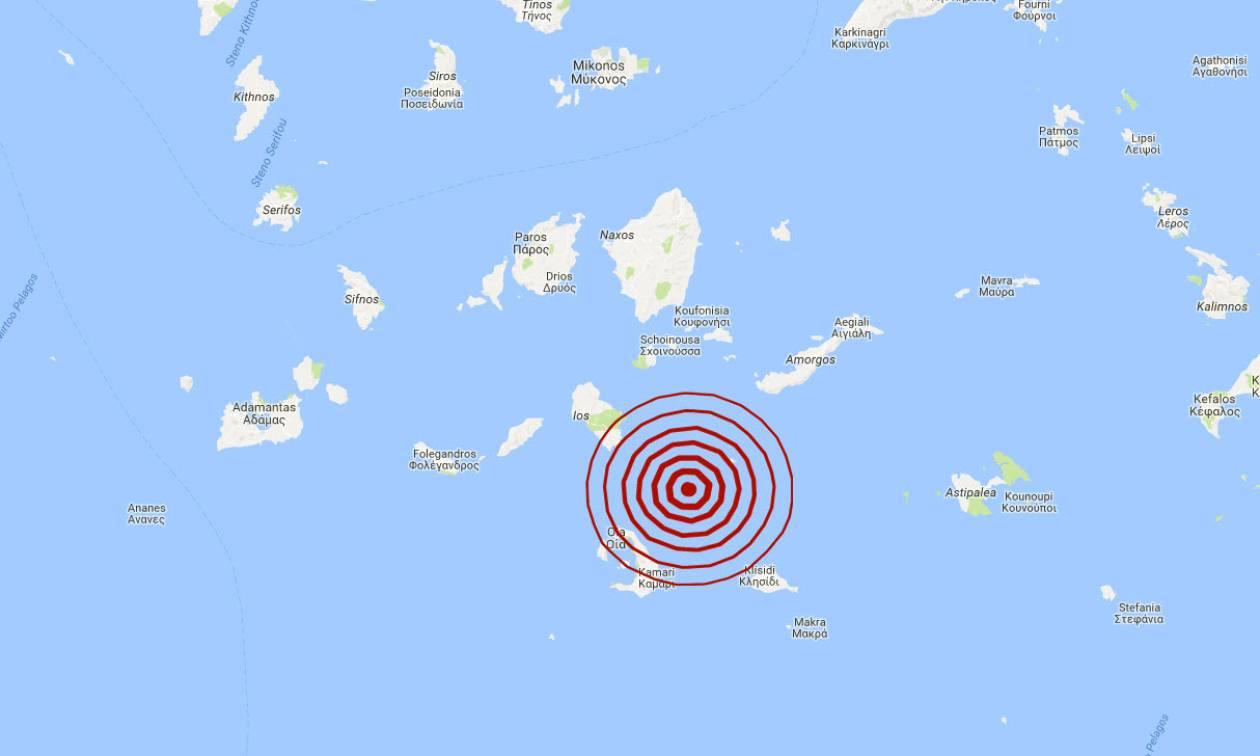 Σεισμός στις Κυκλάδες (pics)