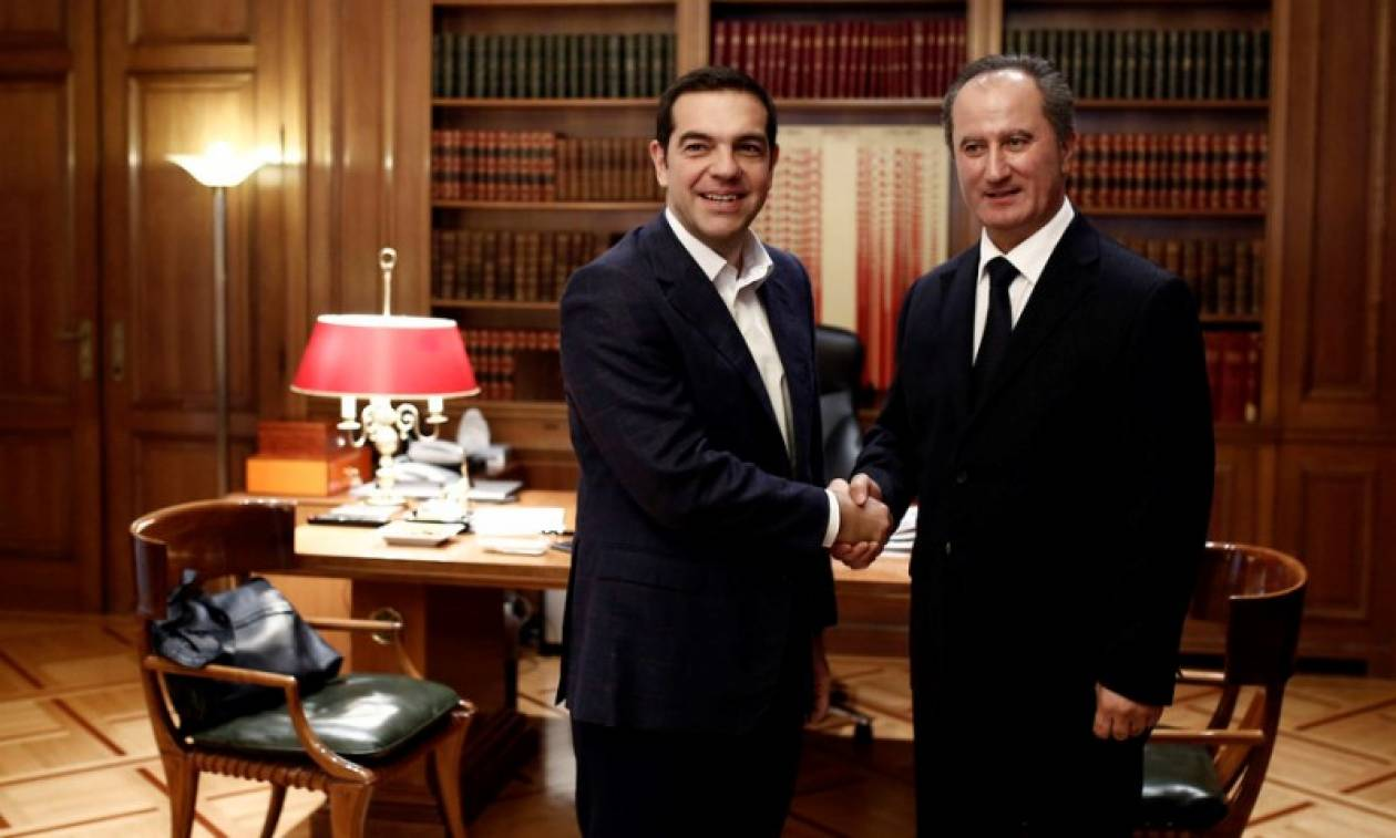 Συνάντηση Τσίπρα με τον υποψήφιο για την Προεδρία της Κύπρου Σταύρο Μαλά