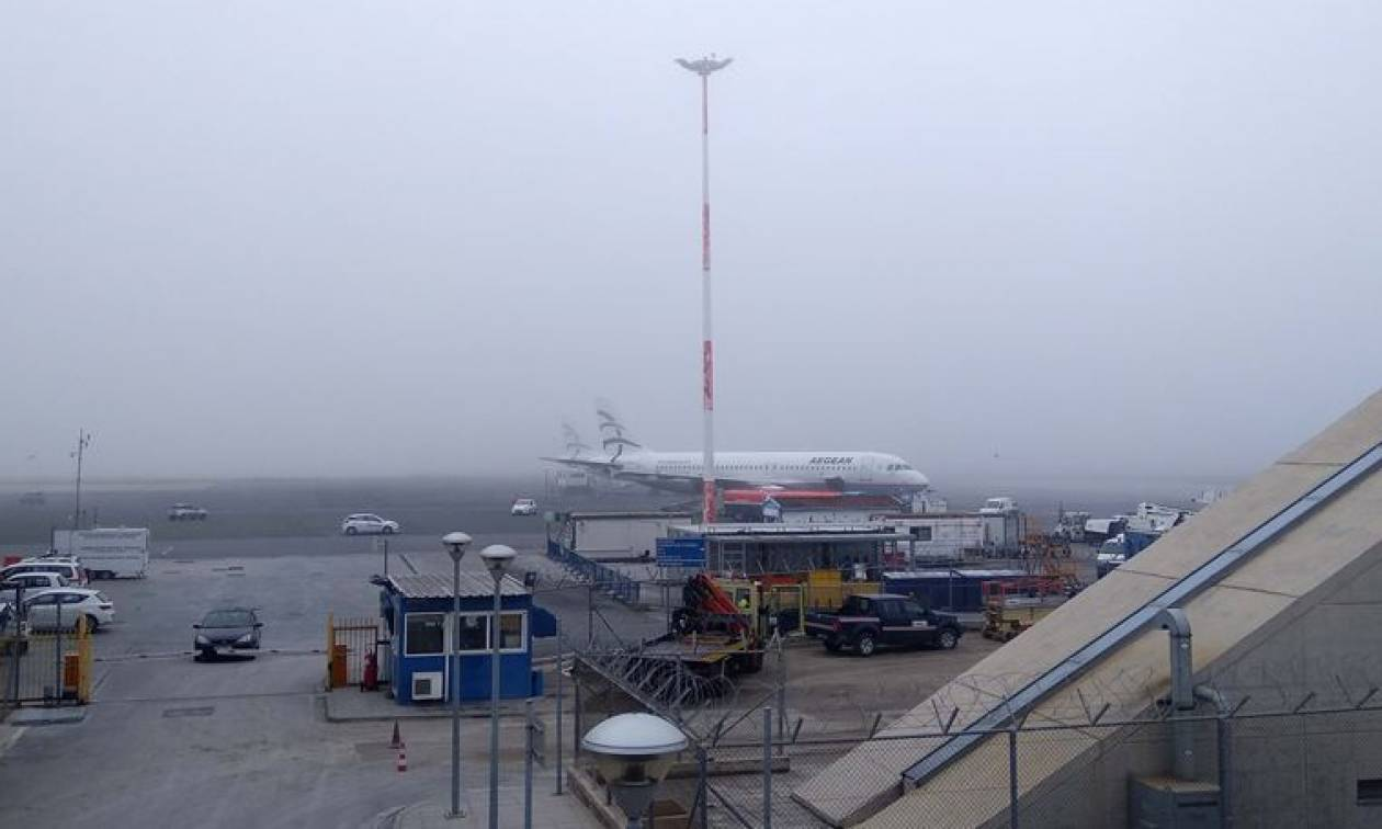 Κακοκαιρία: Καθυστερήσεις και αναβολές στις πτήσεις λόγω ομίχλης στο αεροδρόμιο «Μακεδονία»