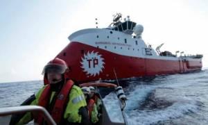 Η τουρκική φρεγάτα Μπαρμπαρός στο λιμάνι της Αμμοχώστου