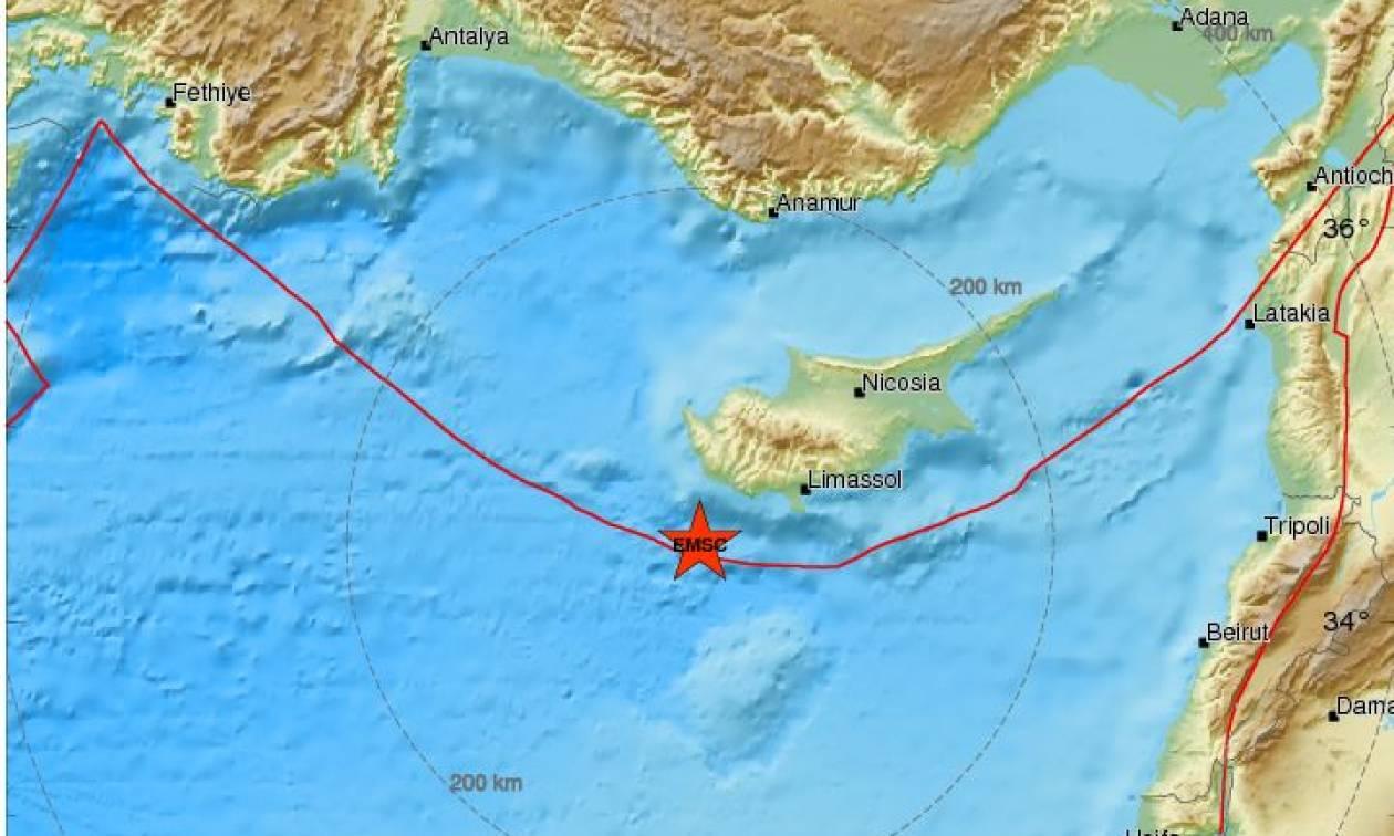 Σεισμός κοντά στην Κύπρο