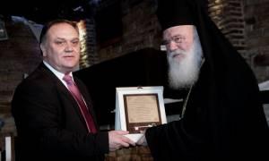 Ο αρχιεπίσκοπος Ιερώνυμος ανακηρύχθηκε επίτιμος δημότης του Ωρωπού (Pics)