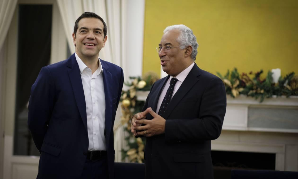 Πορτογαλία: Σε θερμό κλίμα η συνάντηση Τσίπρα - Κόστα στη Λισαβόνα (pics)